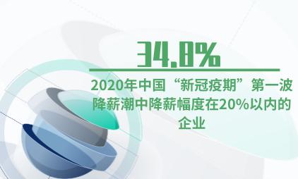"""企业薪资数据分析:2020年中国""""新冠疫期""""第一波降薪潮中有34.8%的企业降薪幅度在20%以内"""
