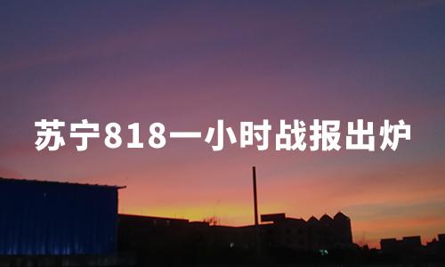 818一小时战报出炉:苏宁国际美妆增长627%