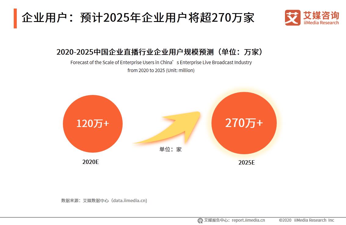 企业用户:预计2025年企业用户将超270万家