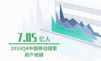 移动搜索行业数据分析:2019Q4中国移动搜索用户规模达到7.05亿人