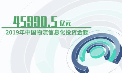 物流行业数据分析:2019年中国物流信息化投资金额为45990.5亿元