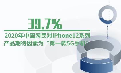 """手机行业数据分析:2020年39.7%中国网民对iPhone12系列产品期待因素为""""第一款5G手机"""""""