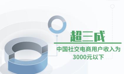 社交电商行业数据分析:超三成中国社交电商用户收入为3000元以下