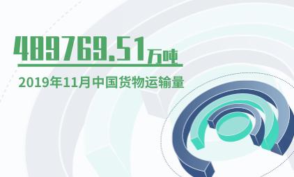 交通运输行业数据分析:2019年11月中国货物运输量为489769.51万吨