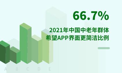 中老年群体数据分析:2021年中国66.7%中老年群体希望APP界面更简洁