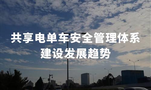 2020中国共享电单车大发极速快三管理体系建设发展趋势预测