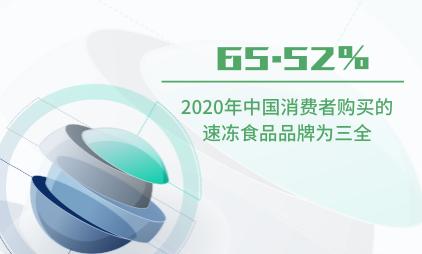 速冻食品行业数据分析:2020年中国65.52%消费者购买的速冻食品品牌为三全
