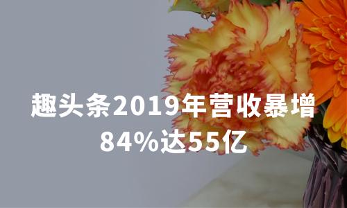 财报解读 | 趣头条2019年营收暴增84%达55亿 首席战略官离职