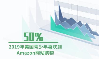 电子商务行业数据分析:2019年美国50%青少年喜欢到Amazon网站购物