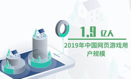 游戏行业数据分析:2019年中国网页游戏用户规模为1.9亿人