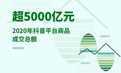 直播电商行业数据分析:2020年抖音平台商品成交总额超5000亿元