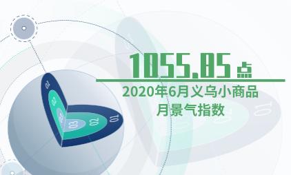 小商品行业数据分析:2020年6月义乌小商品月景气指数为1055.85点