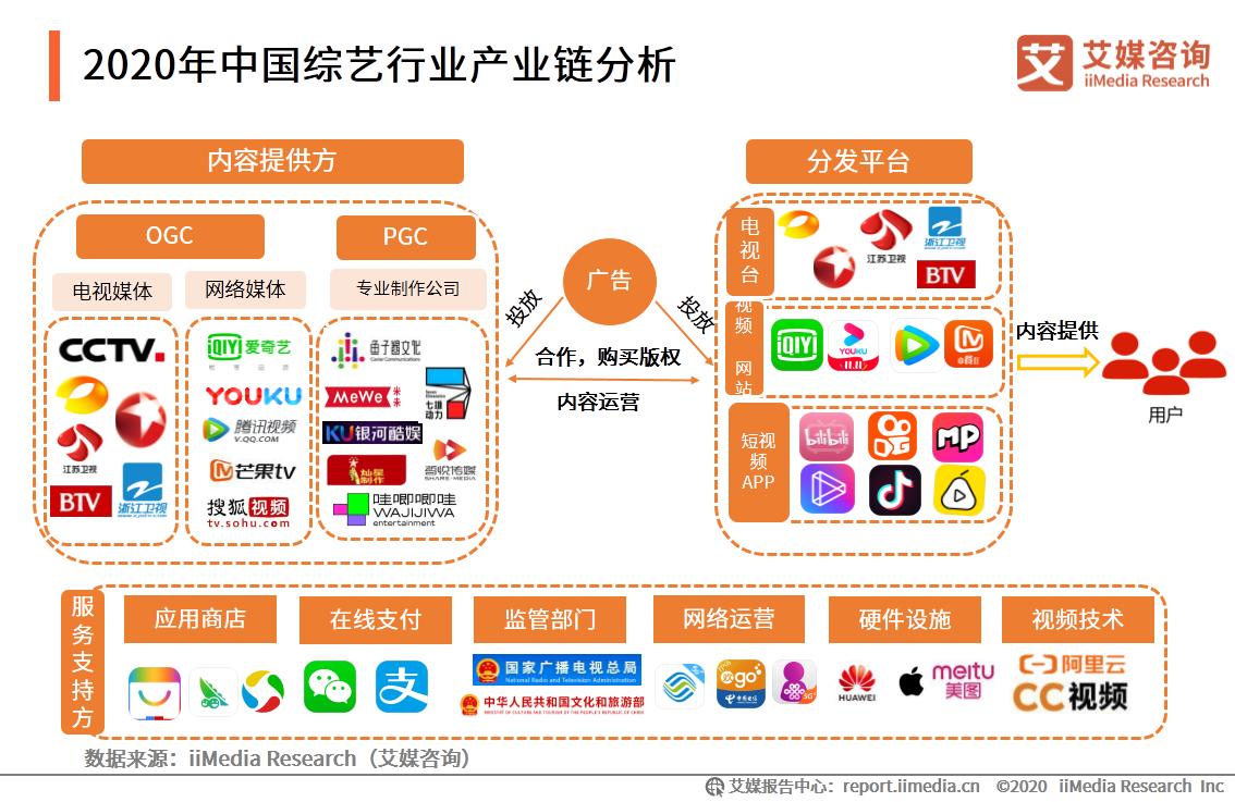 2020年中国综艺行业产业链分析