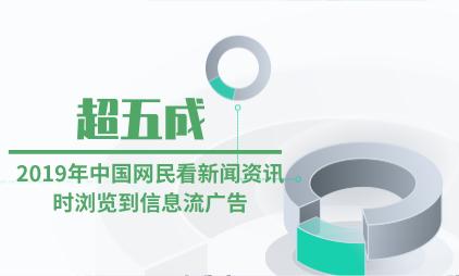 信息流广告行业数据分析:2019年中国超五成网民看新闻资讯时浏览到信息流广告