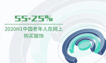 银发经济市场数据分析:2020H1中国55.25%老年人在网上购买服饰