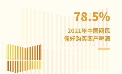 酒类市场数据分析:2020年中国78.5%网民偏好购买国产啤酒