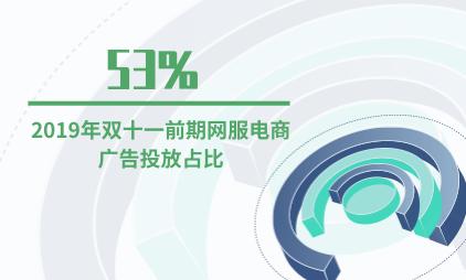 电商行业数据分析:2019年双十一前期网服电商广告投放占比为53%