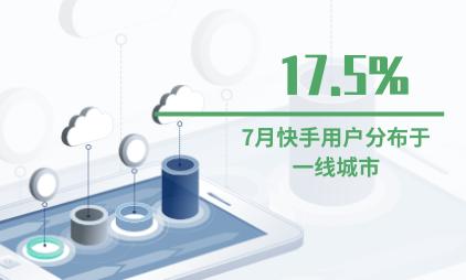 短视频行业数据分析:2020年7月快手17.5%用户分布于一线城市