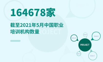 职业教育行业数据分析:截至2021年5月中国职业培训机构达164678家