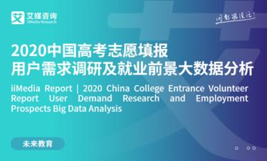 艾媒咨询|2020中国高考志愿填报行业用户需求及就业前景大数据分析