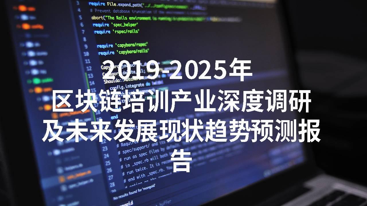 2019-2025年区块链培训产业深度调研及未来发展现状趋势预测报告