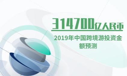 旅游行业数据分析:2019年中国跨境游投资金额将达314700亿人民币