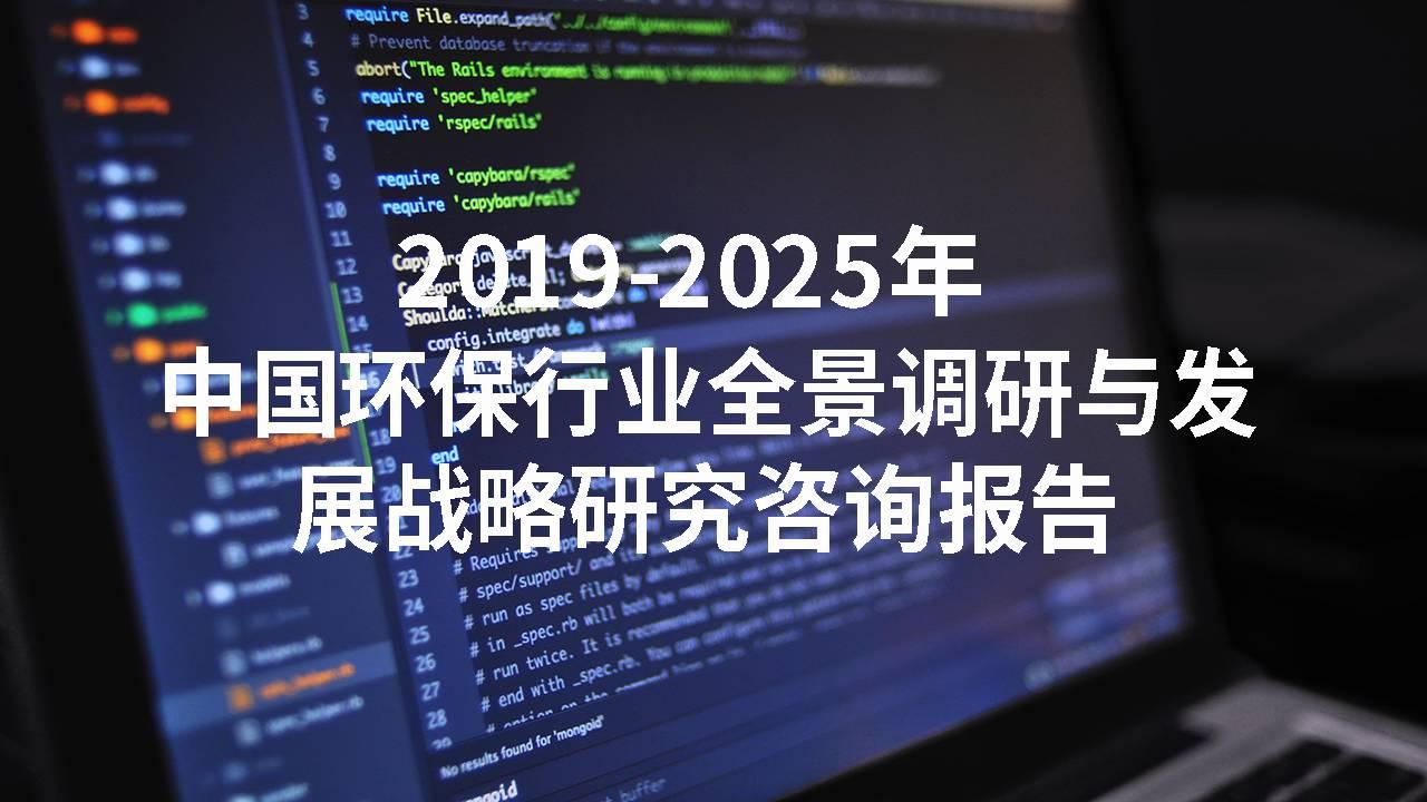 2019-2025年中国环保行业全景调研与发展战略研究咨询报告