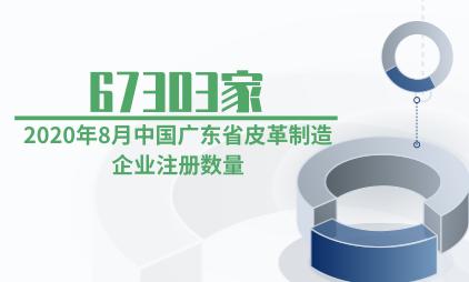 皮革行业数据分析:2020年8月中国广东省皮革制造企业注册数量为67303家