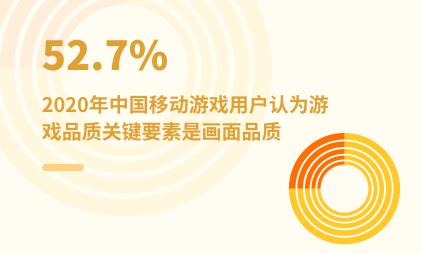 游戏行业数据分析:2020年中国52.7%移动游戏用户认为游戏品质关键要素是画面品质