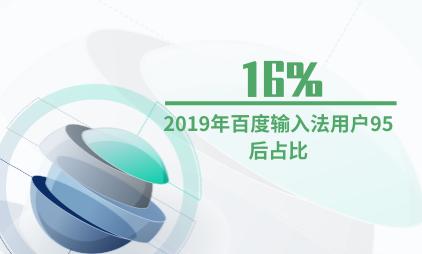 输入法行业数据分析:2019年百度输入法用户95后占比为16%