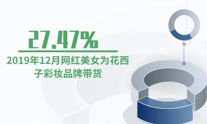 彩妆行业数据分析:2019年12月27.47%网红美女为花西子彩妆品牌带货