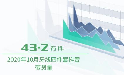 直播电商行业数据分析:2020年10月牙线四件套抖音带货量为43.2万件
