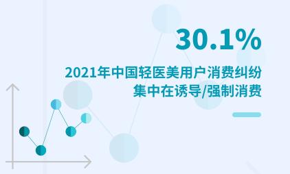 轻医美行业数据分析:2021年中国30.1%轻医美用户消费纠纷集中在诱导/强制消费