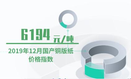 铜版纸行业数据分析:2019年12月国产铜版纸价格指数为6194元/吨
