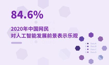 人工智能行业数据分析:2020年中国84.6%网民对人工智能发展前景表示乐观