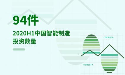 人工智能行业数据分析:2020H1中国智能制造投资数量为94件