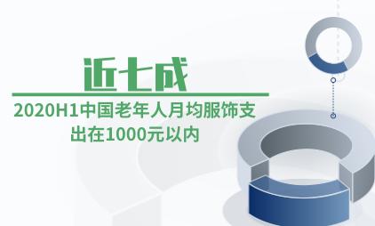 养老行业数据分析:2020H1近七成中国老年人月均服饰支出在1000元以内