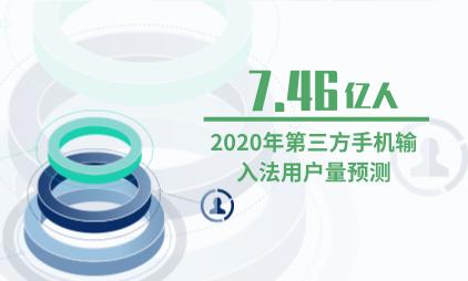 输入法行业数据分析:2020年第三方手机输入法用户量将到达7.46亿人