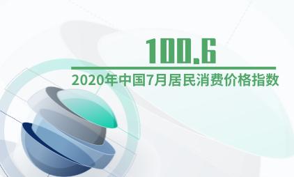 房地产行业数据分析:2020年中国7月居民消费价格指数为100.6