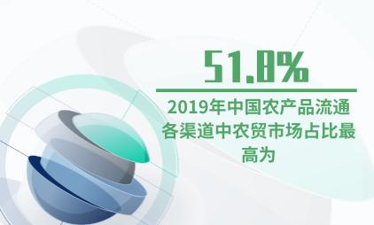 农产品行业数据分析:2019年中国农产品流通各渠道中农贸市场占比最高为51.8%