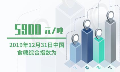 食糖行业数据分析:2019年12月31日中国食糖综合指数为5900元/吨