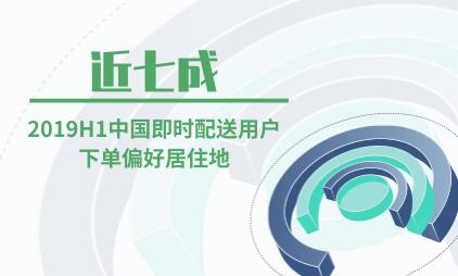 即时配送行业数据分析:2019H1近七成中国即时配送用户下单偏好居住地