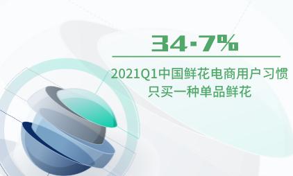 鲜花行业数据分析:2021Q1中国34.7%用户习惯只买一种单品鲜花