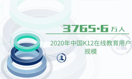K12教育行业数据分析:2020年中国K12在线教育用户规模已达3765.6万人