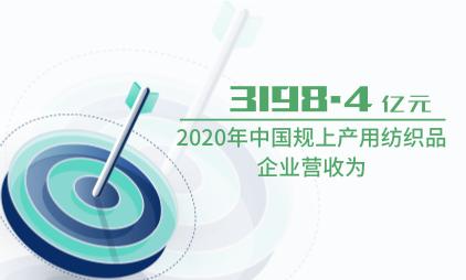 纺织品行业数据分析:2020年中国规上产用纺织品企业营收为3198.4亿元