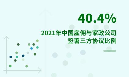 家政行业数据分析:2021年中国40.4%雇佣与家政公司签署三方协议