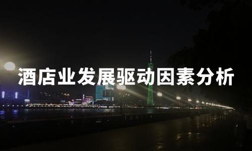 2020年中国酒店业发展驱动因素及营收数据分析