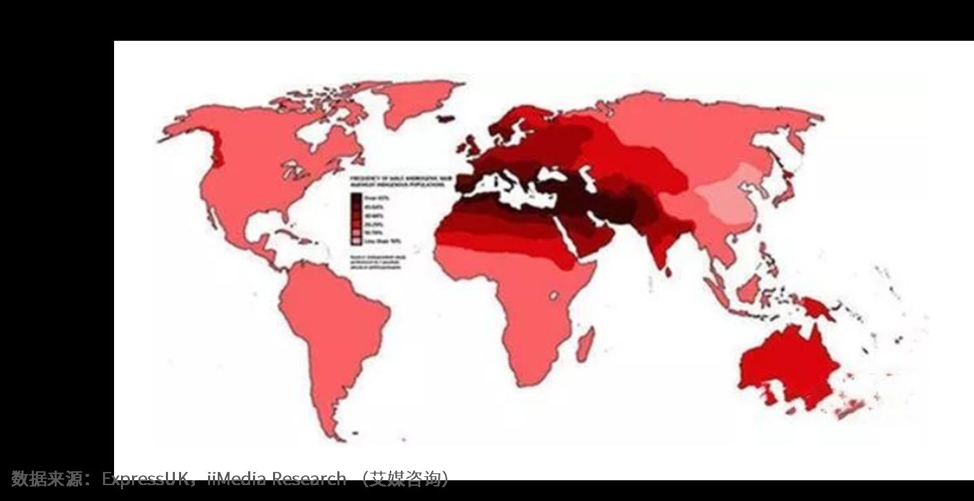 2018-2019世界脱发人群地域分布