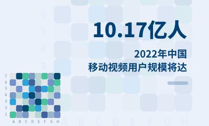 移动视频行业数据分析:2022年中国移动视频用户规模将达10.17亿人