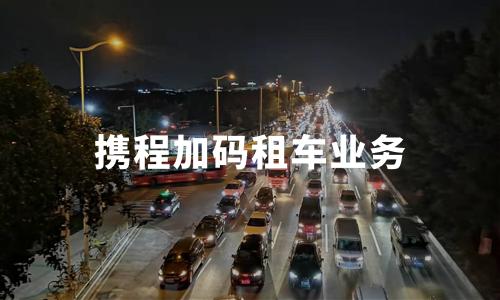 """携程加码租车业务:超过500家租车公司加入""""无忧租"""""""